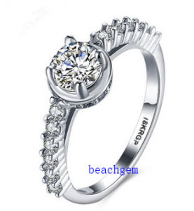 Hot Sell Jewelry- Cubic Zirconia Brass Rings (R0838) pictures & photos