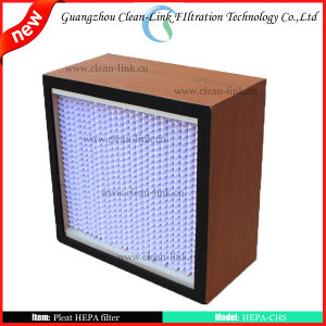Pleated HEPA Filter for Cleanroom pictures & photos