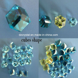 China Factory Decorative Cube Shape Crystal Beads for Jewelry Making pictures & photos