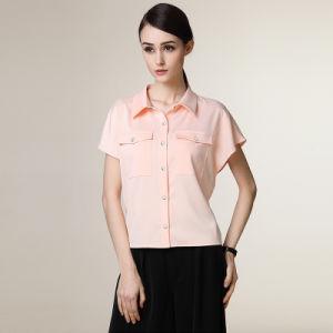 Fancy Design Formal Dress Shirt Short Sleeve for Women pictures & photos