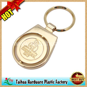 Gold Plating Key Chain, Rotate Keychain, Embossed Keychain (TH-mkc080) pictures & photos