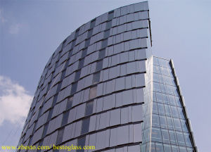 6mm Tempered Decor Glass Curtain Wall, Exterior Glass Wall Panels
