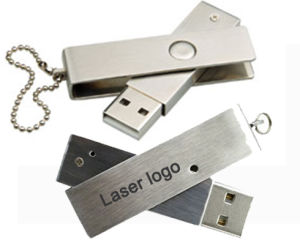 Promotion Metal USB Flash Drive with Laser Logo pictures & photos