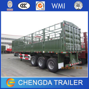 Triple Axle Heavy Duty Prime Mover Tractor Truck Fence Cargo Semi Trailer pictures & photos