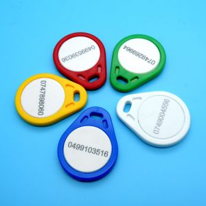 13.56MHz MIFARE Classic 1K Smart RFID key fob keychain tag pictures & photos