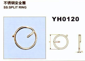 Stainless Steel Rigging Hardware Split Ring pictures & photos
