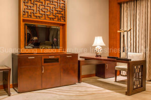 Chinese Style Hotel Furniture with Wood Bedroom Furniture Set (F-3-1) pictures & photos