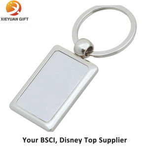 Blank Rectangle Metal Keychain with Ring pictures & photos