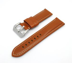 22mm 24mm 26mm Handmade Genuine Cow Leather Watch Band Watch Strap 4 Colors Available pictures & photos