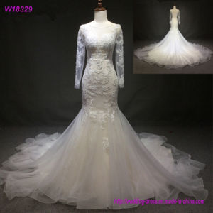 Cream Wedding Dress 2017 Champagne Lace Bridal Wedding Gowns W18329 pictures & photos