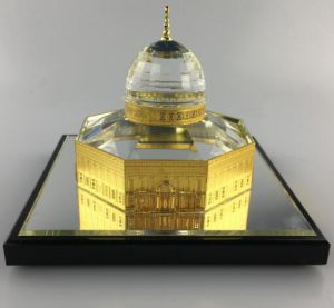 Dome of Rock Crystal with 24K Gold Plated Model