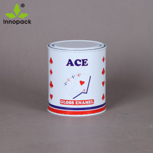 1 Liter Mini Printed Small Round Metal Tin Can with Lid for Chemical pictures & photos