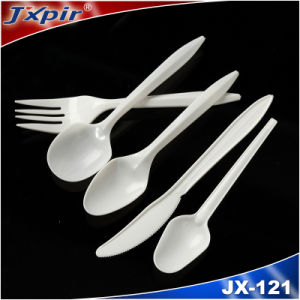 White Disposable Plastic Cutlery Jx121 pictures & photos