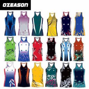 Cheap Custom Sublimation Netball Dresses Uniforms Design (N004) pictures & photos