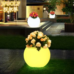 Garden Home Office Decorative LED Flower Pot pictures & photos