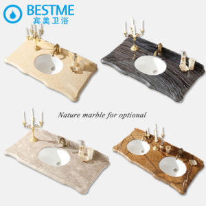 Bathroom Furniture Marble Table with Washing Sinks by-X7084 pictures & photos