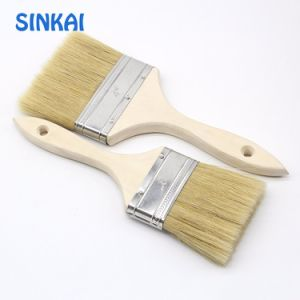 Natural Bristle Flat Brush America Style Paint Brush pictures & photos
