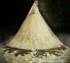 3/4 Sleeves Bridal Ball Gown 2018 New Lace Tulle Wedding Dress Lb18122 pictures & photos