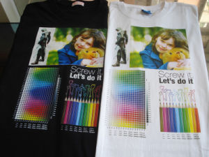 T-Shirt Printing Machine with 6 Colors pictures & photos
