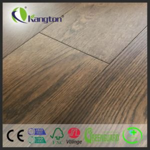 14/3mm Thickness EU Oak Engineered Wood Flooring with Brushed and Stained pictures & photos