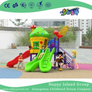 2018 New Outdoor Small Children Mushroom House Playground Equipment with Animal Ladder (H17-A15) pictures & photos