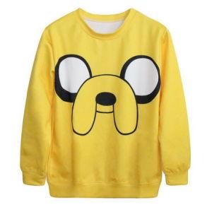 Pullover Jaqueta Colegial Roupa Feminina Blusao College Anime Hoodie 3D Cartoon Bulldog Sweatshirts Female