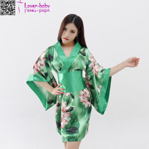 Floral Printed Velvet Kimono Wholesale L28208-4 pictures & photos