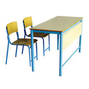 Double Student Desk and Chair (SFYA7-8) , Double Desk and Chair