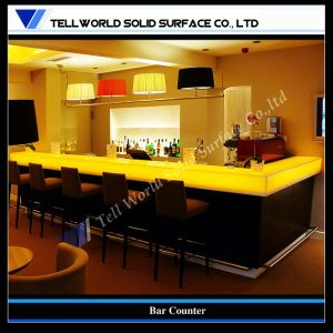 Translucent Stone LED Bar Counter Solid Surface Tables for Club pictures & photos
