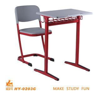 Modern and Fashion Competitive Price Single Table and Chair for University School pictures & photos