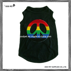 New Cool Fashion Big Peace Sign Pet Clothes Dog T Shirts (SPT6038) pictures & photos