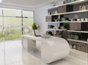 Italian Design Goggle Desk, Modern CEO Office Table pictures & photos
