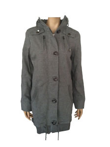 Ladies′ Gray Fashion Coat