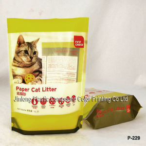 Plastic Zipper Cat Litter Bag Stand up Bag pictures & photos