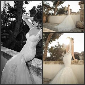 Backless Bridal Dress Mermaid Lace Tulle Wedding Gowns X186 pictures & photos