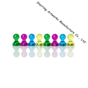 Hot Selling Brilliant Color Acrylic Map Magnetic Push Pins for Home & Office pictures & photos