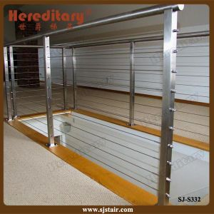 Indoor Wire Rope Railing System Stainless Steel Stair Railing (SJ-H1834) pictures & photos