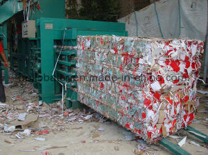 Ce Automatic Waste Paper Cardboard Carton Baling Machine pictures & photos
