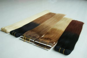 100% Russia Human Hair Weave Double Weft Stitched Remy Hair Weft pictures & photos