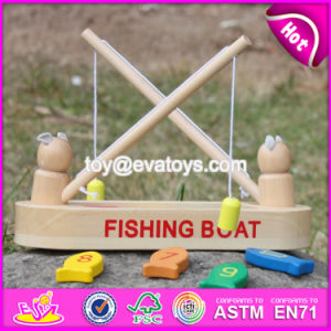 New Design Childhood Play Toy Wooden Fishing Boat Toy W01A193 pictures & photos