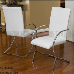 Luxury Hotel Armrest Stainless Steel Legs Dining Room Chair (NK-DCA067-1)