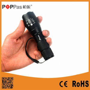 Waterproof Xm-L T6 LED Zoomable Torch Light pictures & photos