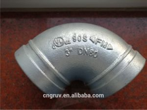 "3"" Galvanized Grooved Elbow, Short Type Elbow, Grooved Fittings pictures & photos"