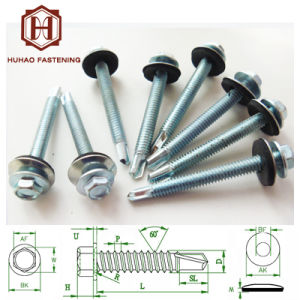 Screw/Self Drilling Screw/Shining Zinc Plated Hex Head Self Drilling Screw pictures & photos