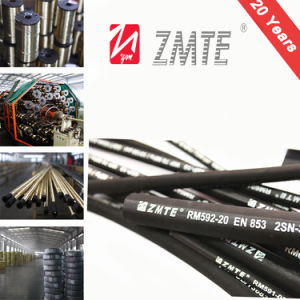 SAE 100r2at / En 853 2sn High Pressure Hydraulic Rubber Hose with Fittings pictures & photos