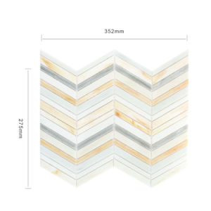 Popular Style Art Glass Mosaic Linear Tile pictures & photos