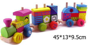 Wooden Train/ Wooden Toys (HSG-T-015)