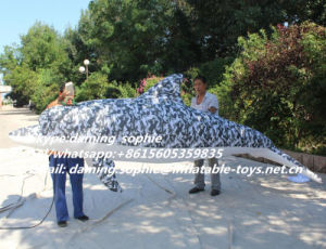 Inflatable Camouflage Color Dolphin for Decoration