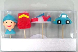 Boy & Car Toothpick Candle (UCT5008)