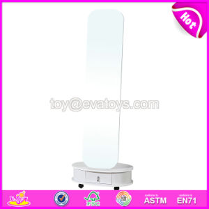 Wholesale Cheap White Wooden Bedroom Mirrors with Cabinet W08h084 pictures & photos